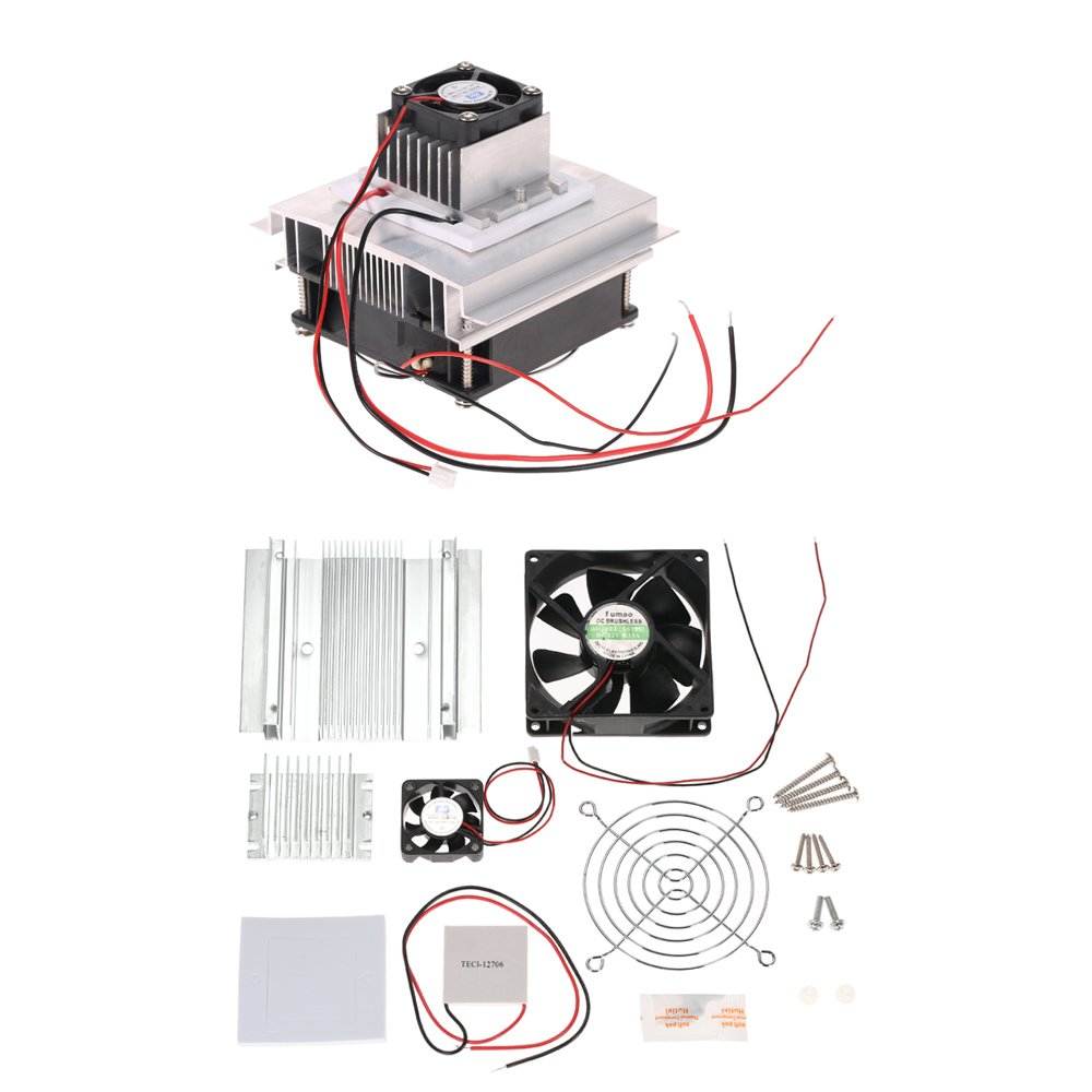 Kkmoon DIY Thermoelectric Peltier Cooler Cooling System Installation Kit Semiconductor Cooling Device Line Module + Radiator + Cooling Fan + TEC1-12706 KIA0714204871583BC