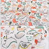Aubliss 8pcs Fat Quarter Fabric Bundles 100% Cotton