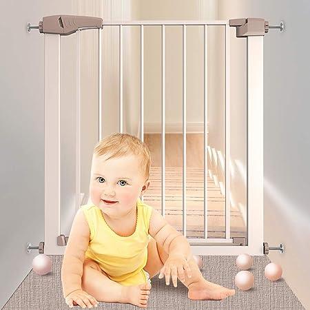 FSGD Puerta de Seguridad para Niños, Apta para 75 – 117 cm, Altura 76 cm, Sin taladrar, Reja Protectora para Puertas y Escaleras, Seguridad para Bebés y Perros,103~110cm: Amazon.es: Hogar