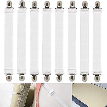 8 Stück Betttuchspanner  Bettlakenspanner für Laken 20-35 cm Lang 15 mm Breit