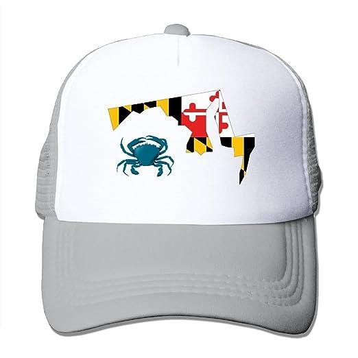 79cb95badf721 HAT-HAT Maryland Flag Crab Unisex Adjustable Snapback Hats Trucker Cap