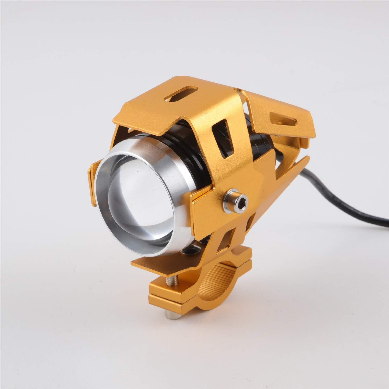 Klicop U5 LED Lampe Phare antibrouillard Phare pour Moto, Voiture électrique, Voiture à pédales, Voiture Fit pour Moto (Couleur : Black) Voiture électrique Voiture à pédales