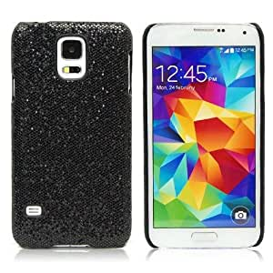 Deluxe Sparkle Bling Glitter Diamond Hard Case Cover For Samsung Galaxy S5 i9600 (Black)