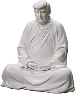 Uwariloy Trump Buddha - Former US President Donald Trump Resin Statue, Mediating Zen Trump Statue 2024, Make Our Great Again Buddha Figurine, for Car, Office Desk and Home Decor