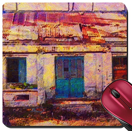 Liili Suqare Mousepad 8x8 Inch Mouse Pads/Mat original oil painting of rural shack vietnam Photo 7079636