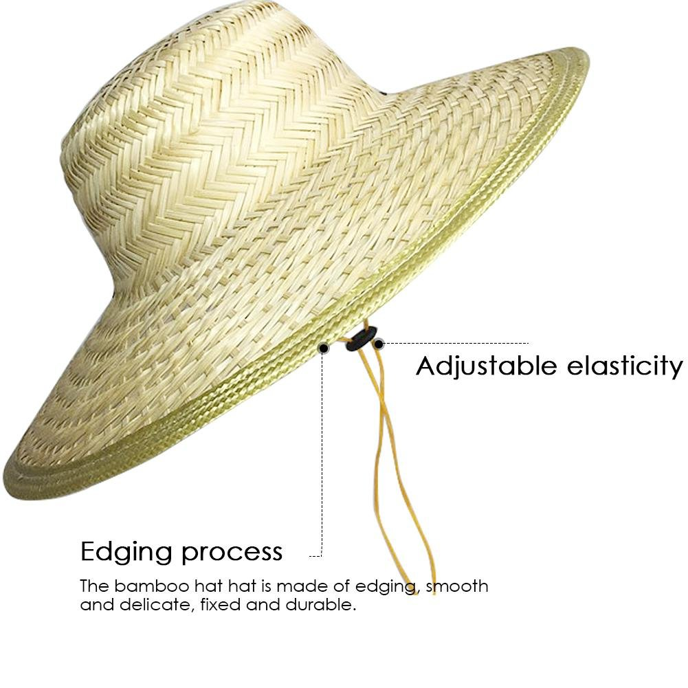 33fcc94a98c Straw Hat Men Harvester Hat Sun Protection Chinese Style Hat Hand-Woven  Bamboo Hat Outdoor Work Sun Leisure Farm Hat Elderly Sun Protection Hat  Leisure ...