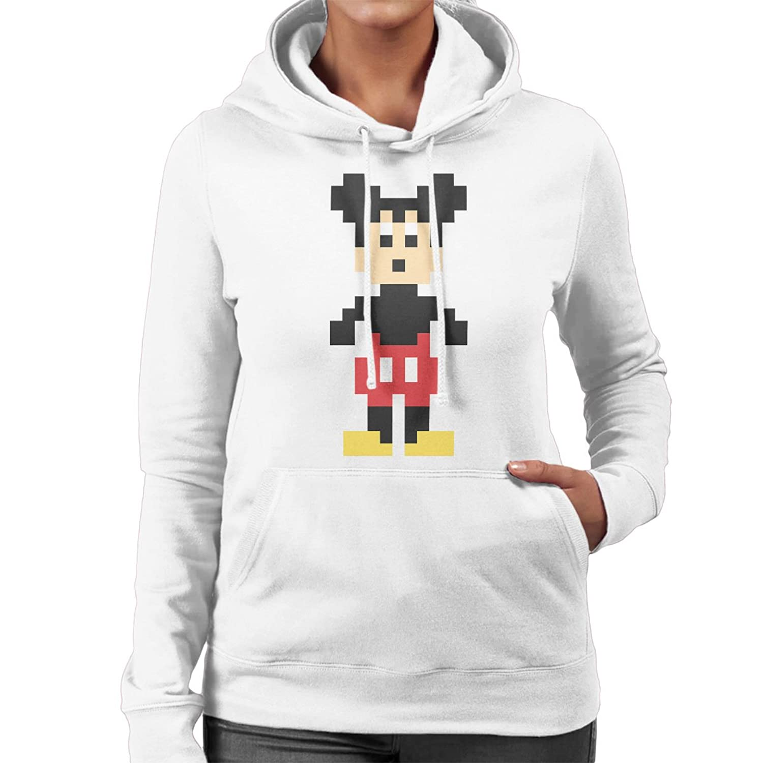 Hahn Mouse New Pixel Character Women's Mickey Hooded Sweatshirt Dr BaCqgq8d