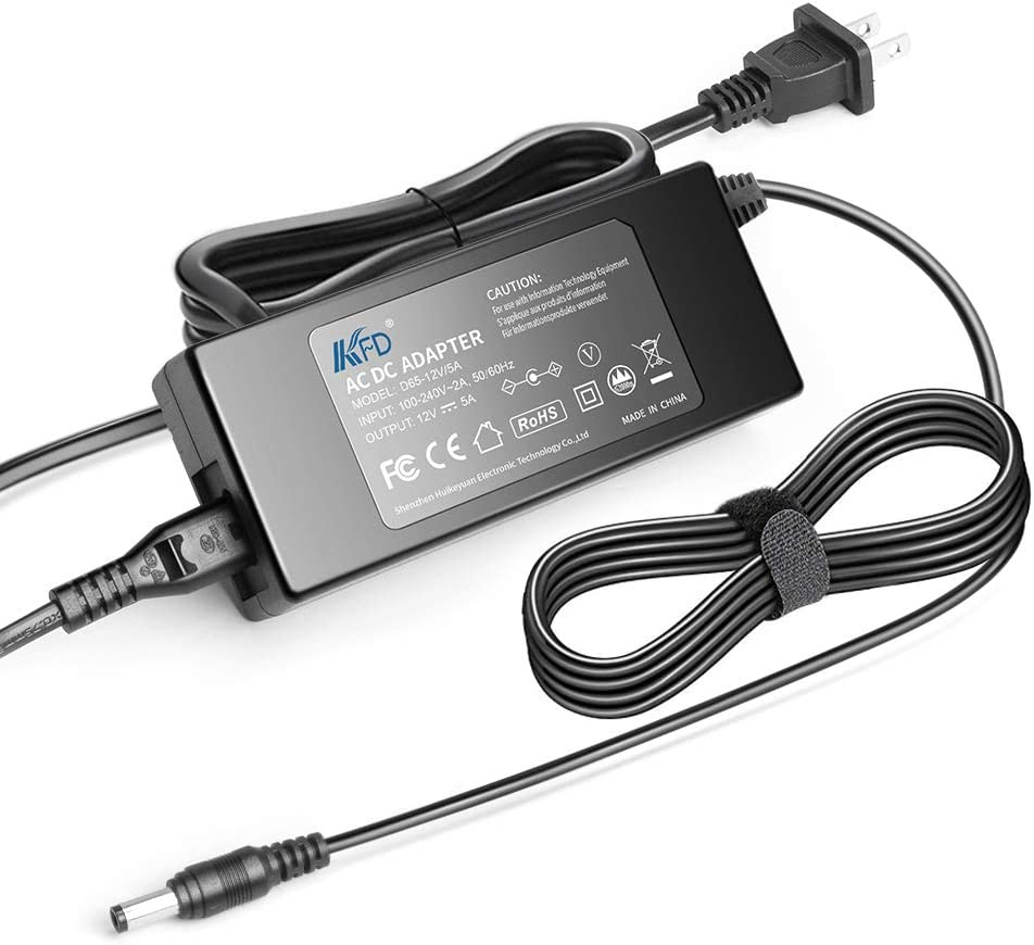 KFD 12V 5A 60W AC DC Adapter Charger for CWT PAA060F PAA050F PAA040F KPL-060F KPL-040F KPA-050F CAD060121 Lorex SG19LD804-161 Seasonic SSA-0601S-1 Ktec KSAFH1200500T1M2 Switching Power Supply Cord