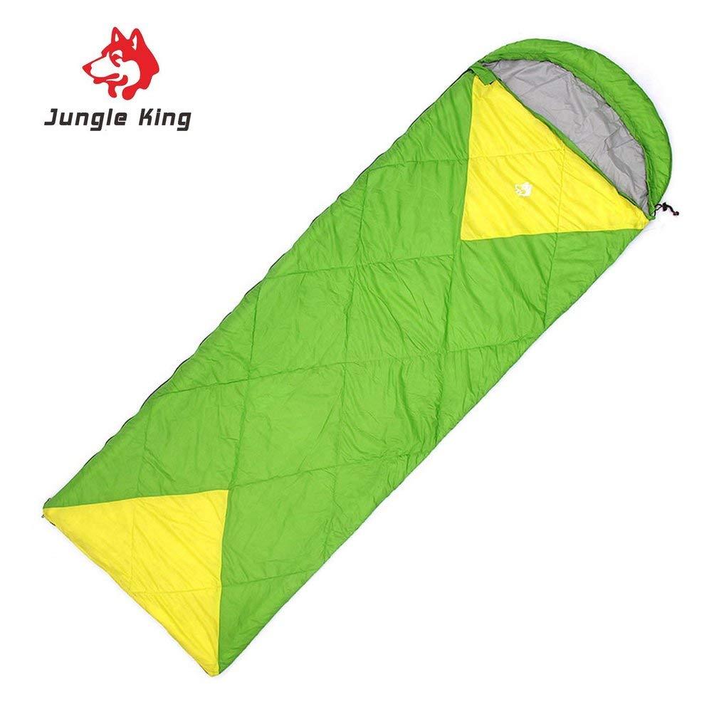 Jiobapiongxin Saco de Dormir con Capucha Libre al Aire Libre Capucha de Nylon Impermeable del Saco de Dormir Caliente de Jungle King 91ba41