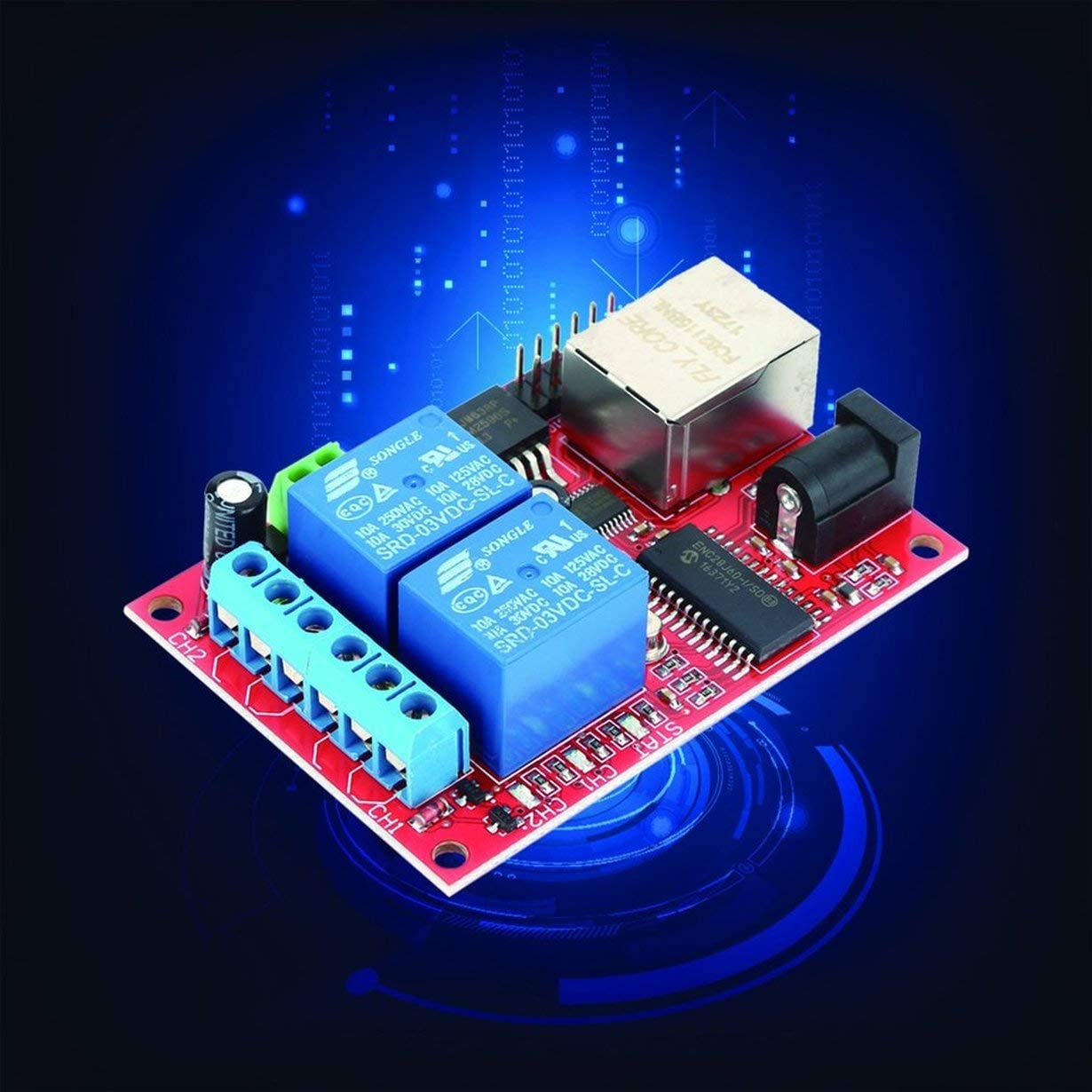 Lan Ethernet 2 Wege Relais Platine Verzögerung Schalter Tcp Udp J1U6
