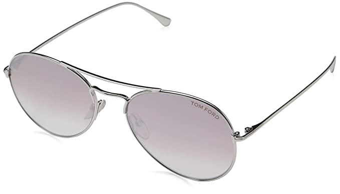 87954ccd68b9 Image Unavailable. Image not available for. Color  Sunglasses Tom Ford FT  0551 Ace- 02 18Z shiny rhodium ...