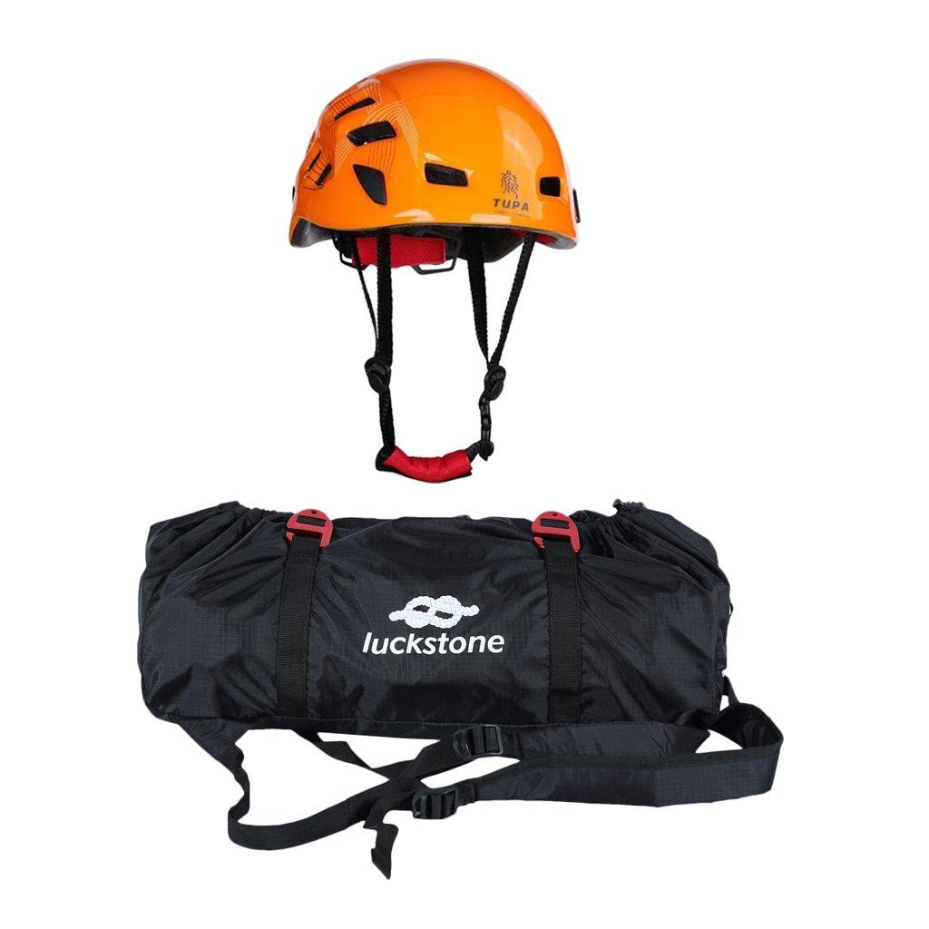 MonkeyJack Folding Rock Climbing Tree Arborist Caving Rappelling Rescue Rope Cord Bag Gear Equipment Carry Backpack Safety Helmet Hard Hat