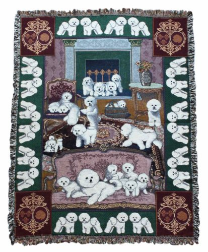 Gone Doggin Bichon Frise Blanket Throw #1 - Exclusive Dog Breed Tapestry