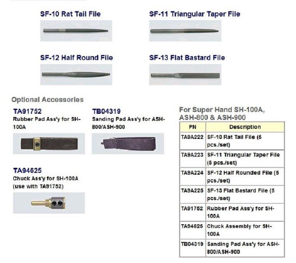 Nitto Kohki ASH-900 Super Hand Filer, 85 PSI, 6300 SPM, 9mm Stoke Length, 6.3 mm File Shank