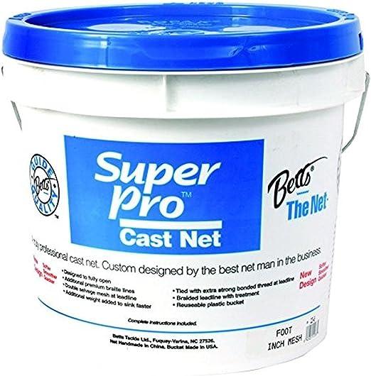 """Betts Blue Cast Net 4/' Blue 1Lb Per Foot 3//8/"""" Mesh 17MB-4"""