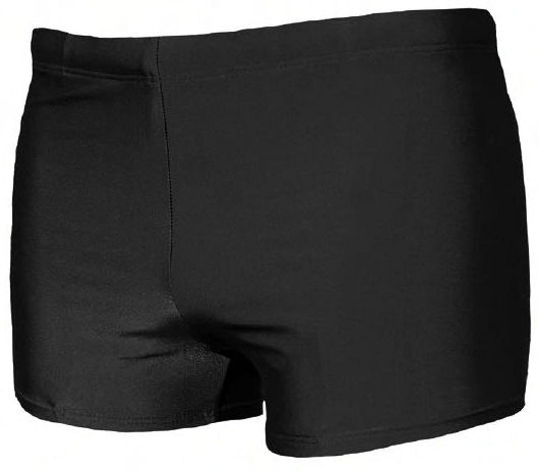 ADAMO Men's Plain Swimming Briefs Black Black