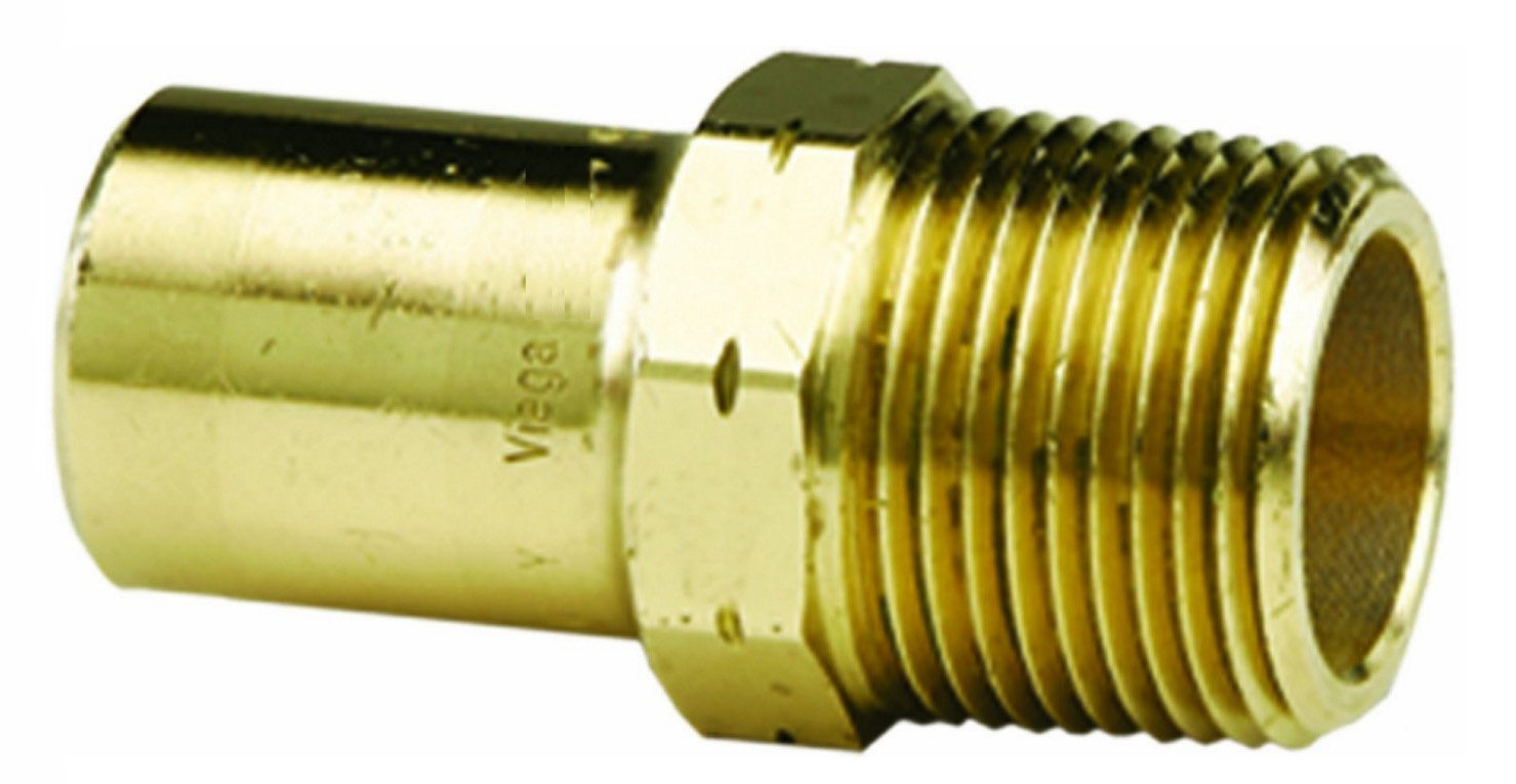 Viega 77962 ProPress Bronze Adapter with Male 1//2-Inch by 1//2-Inch FTG x Male NPT 5-Pack