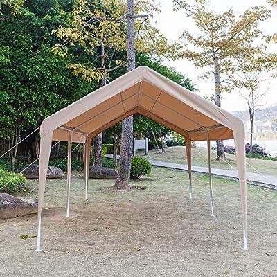 CN-Cultureotd 3 x 6 Carport - Toldo para Coche (versátil, con Gamuza para los pies), Color Caqui: Amazon.es: Jardín