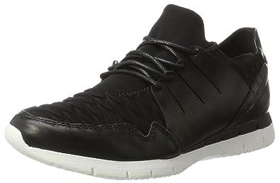 23713, Sneakers Basses Femme, Noir (Black STR.Comb), 41 EUMarco Tozzi