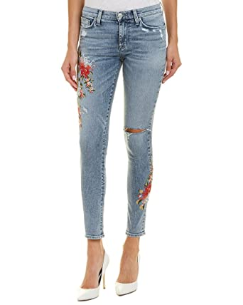 ff89b897c6e Amazon.com: HUDSON Womens Nico Mid-Rise Ankle Super Skinny Jeans in Lush  Floret: Clothing