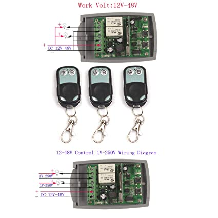 12V-48V 2CH 24V Wireless Remote Relay Switch Relay Module ... on