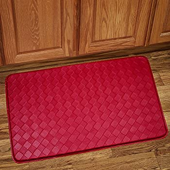 sweet home collection memory foam anti fatigue kitchen floor mat rug diamond red walmart target costco