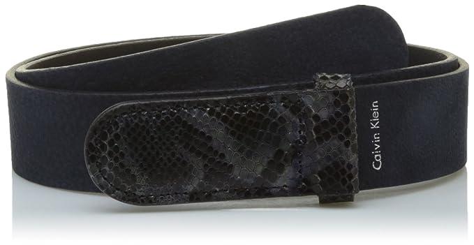 Calvin Klein Exotic Leather Buckle Belt, Ceinture Femme, Bleu (Ombre Blue  448), 75  Amazon.fr  Vêtements et accessoires 219d6efd558