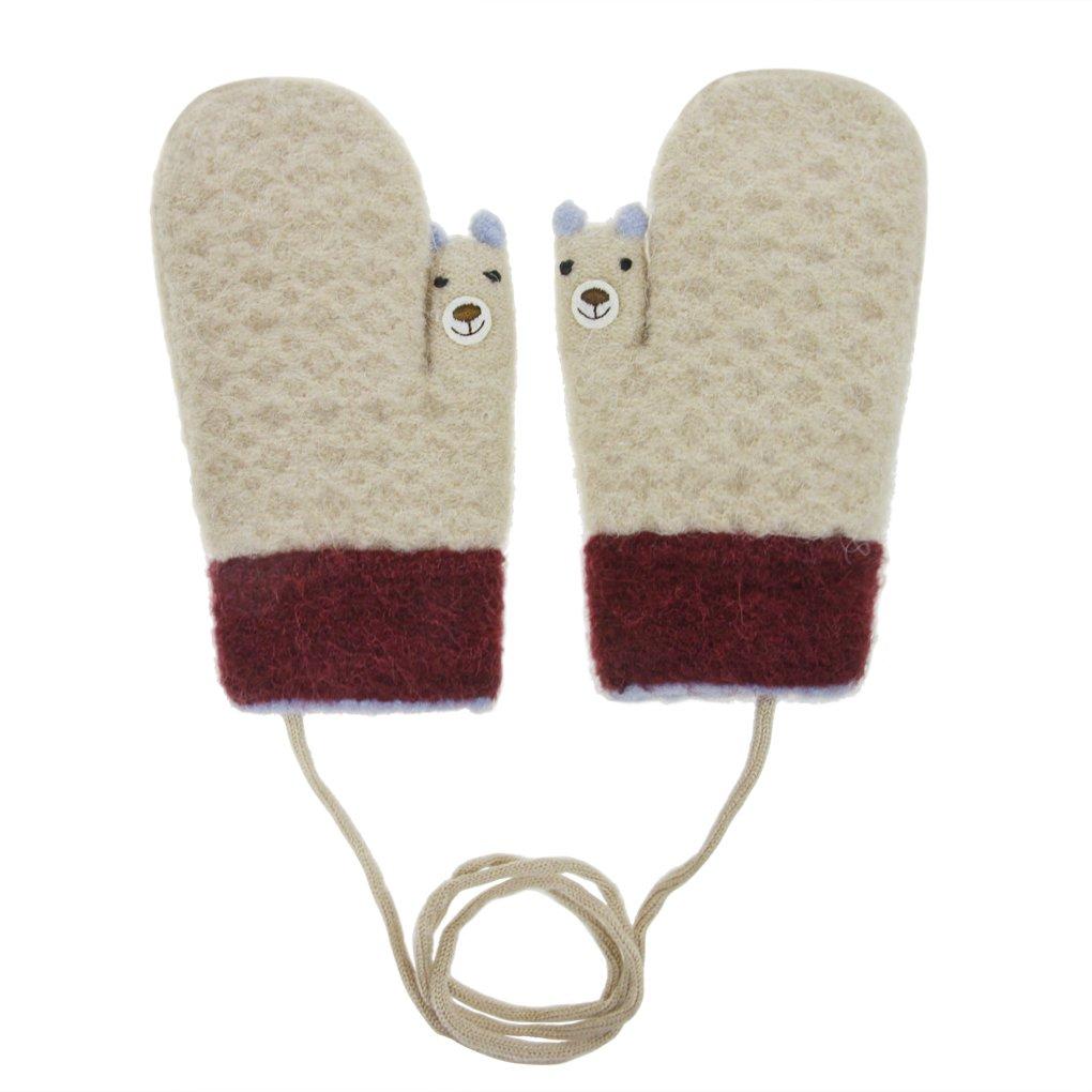 Amazon.com: Toddler Kids Winter Warm Thick Full Finger Gloves ...