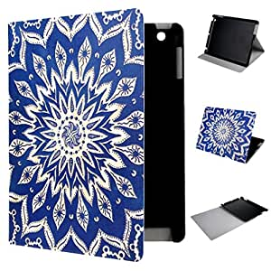 iPad 4 Case , TUTUWEN Tribal Flower Design PU Leather Flip Case Protective Cover For Apple iPad 4 / Apple iPad with Retina display