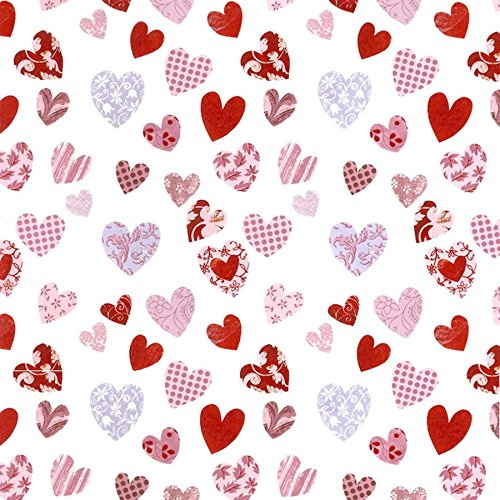 HEARTS PATTERNED Decal Fused Glass or Ceramics