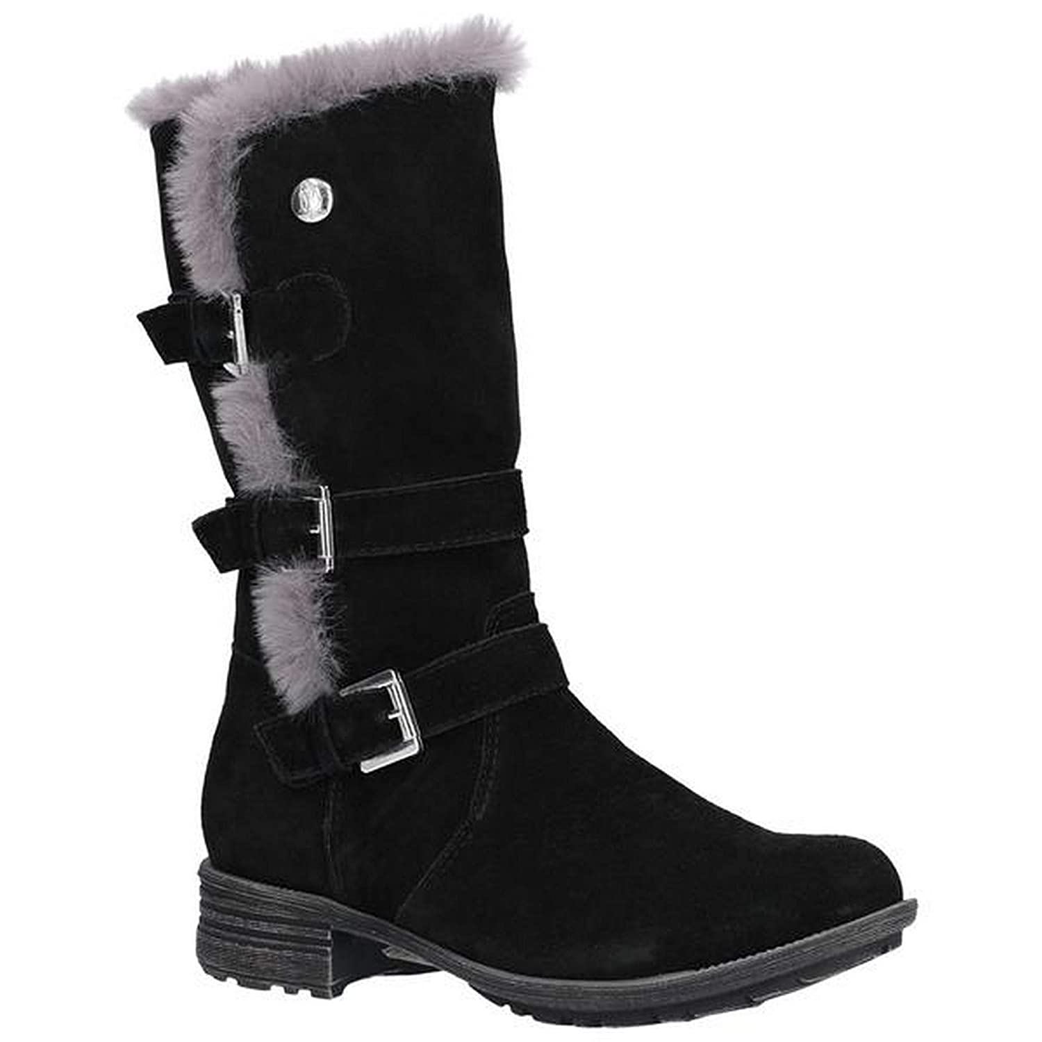 f7242ad178f Hush Puppies Womens Ladies Saluki Buckle Boots (6 UK) (Black)   Amazon.co.uk  Shoes   Bags