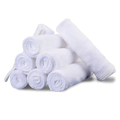 blanco 12/unidades toalla de cara de gamuza de//500/G//m/² 100/% algod/ón 30/x 30/