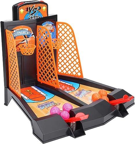 VGEBY Mini Baloncesto de Mesa, Juguete de sobremesa de Baloncesto para niños Juego de Mesa Disparos de catapultas Juego: Amazon.es: Deportes y aire libre