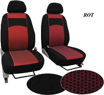 Pok Ter Bus Maßgefertigter Sitzbezug Modellspezifischer Sitzbezug Fahrersitz Beifahrersitz Für Vw T4 Super Qualität Stoffart Vip In Diesem Angebot Rot Muster Im Foto Auto
