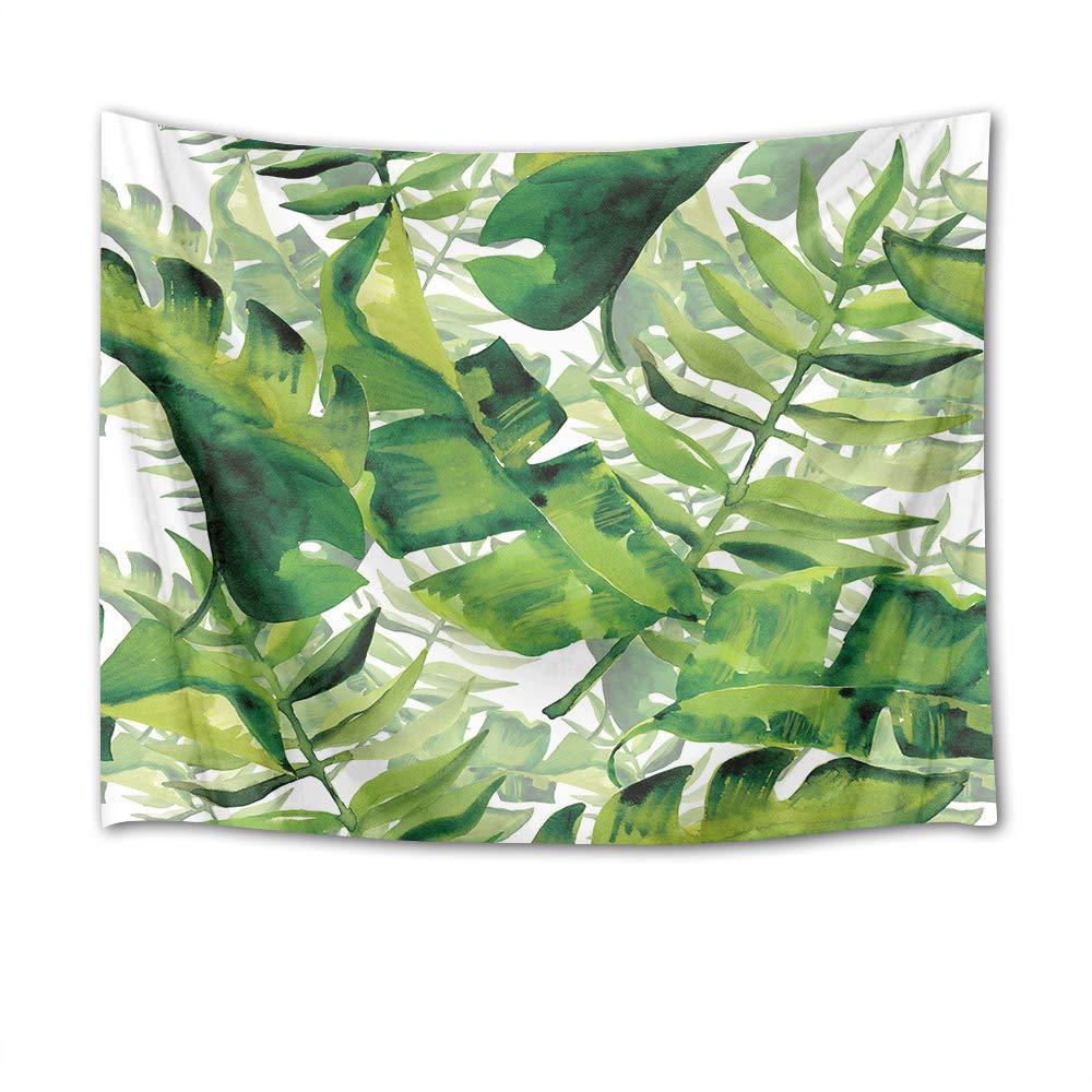 Foglie di bambù verde orchidee pietre nere zen foto stampa parete appeso arazzo picnic spiaggia tovaglia tessuto accessorio casa 150 larghezza x 100 altezza cm JinShiZhuan