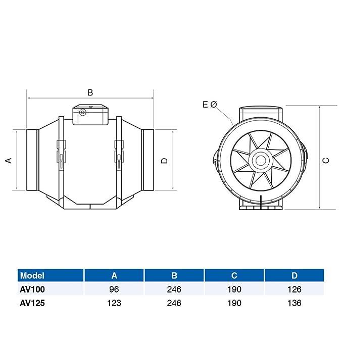 Magnificent Airflow 100T Av100T Aventa 100Mm In Line Timer Fan Amazon Co Uk Wiring Database Wedabyuccorg