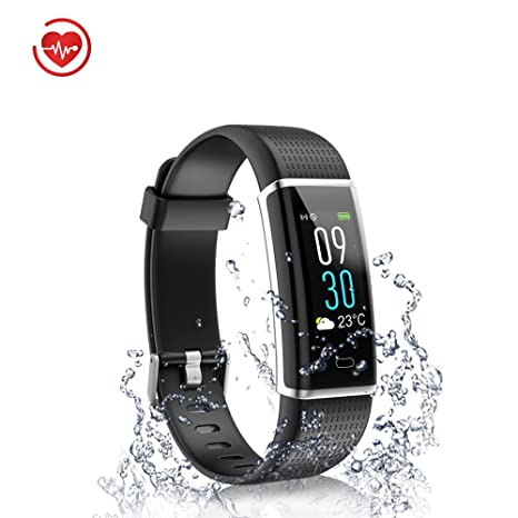 735430e39 Fitness Tracker,Waterproof Activity Tracker Heart Rate  Monitor,Bluetooth Smart