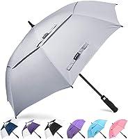 Golf Umbrella Windproof Large 62 inch Double Canopy Automatic Open Umbrella for Men - Vented Sun Umbrella - Stick...
