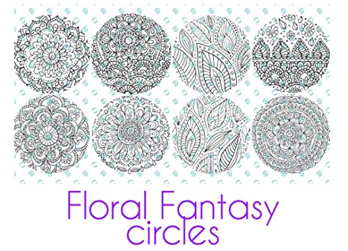 Silkscreen Stencil Floral Fantasy for Polymer Clay and Mixed Media 2 inch Circles