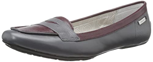 Calvin Klein Tammy - Mocasines para mujer multicolor Grey/Burgundy, color gris, talla 40: Amazon.es: Zapatos y complementos
