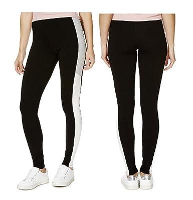 FF Ladies Colour Block Side Stripe Leggings Tights Womens