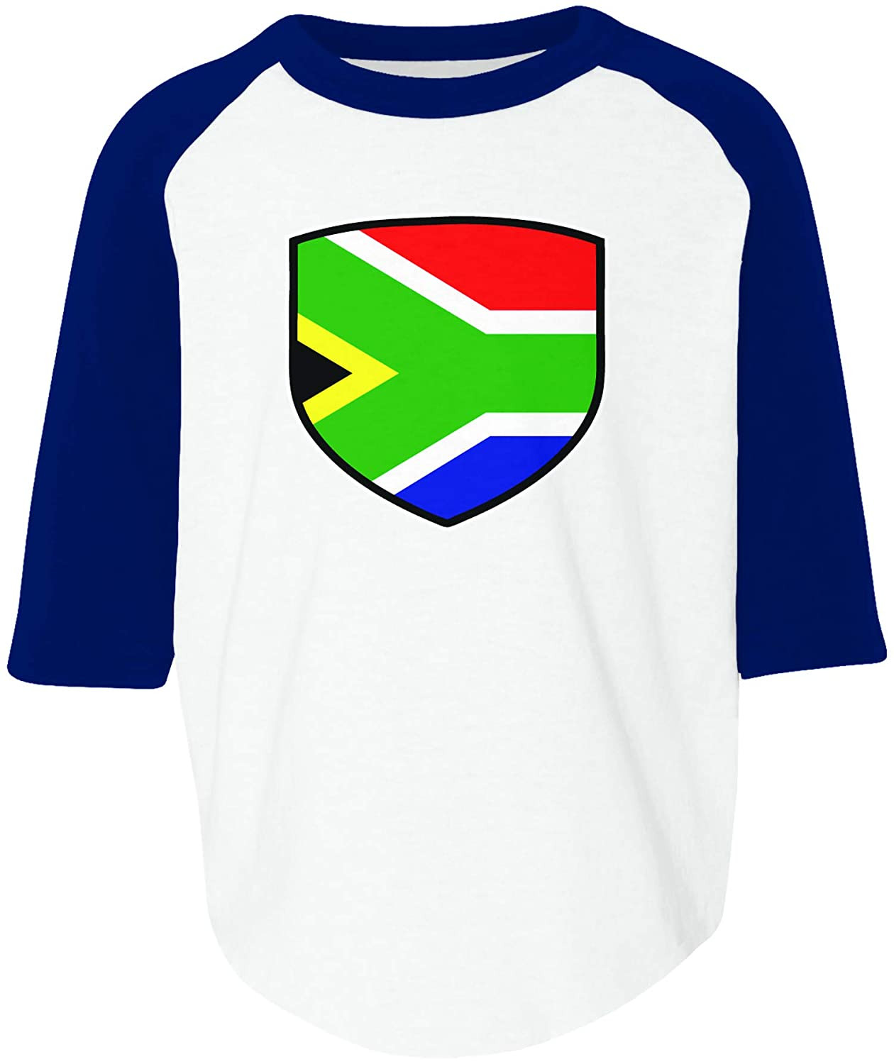 Amdesco South Africa Shield South African Flag Toddler Raglan Shirt