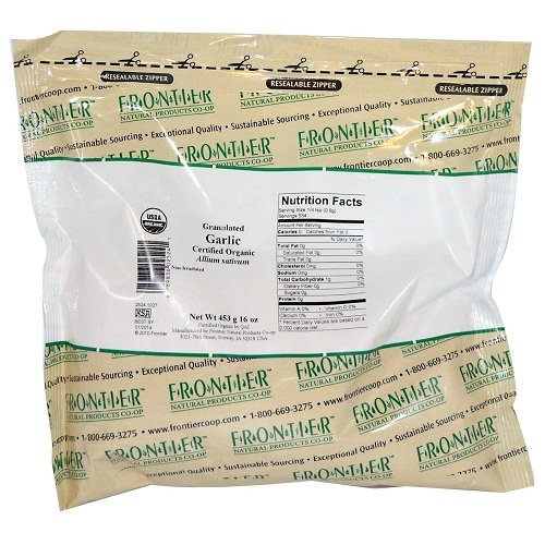 Frontier Natural Products Granulated Garlic 16 oz 453 g by Frontier