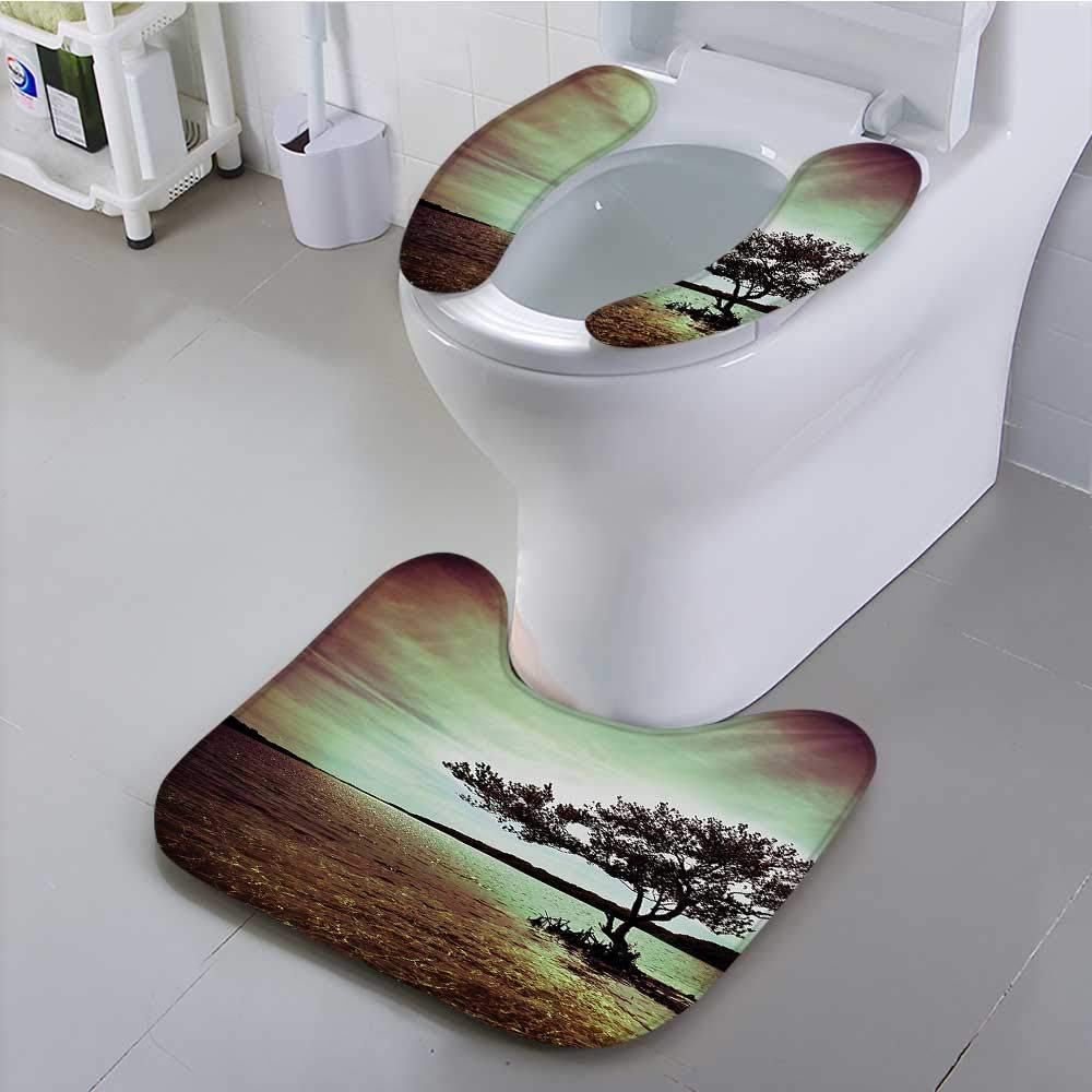 aolankaili Toilet seat Cover Scene Accessories College List One of a Kind Machine Washable Silky Satin in Soft Non-Slip Water