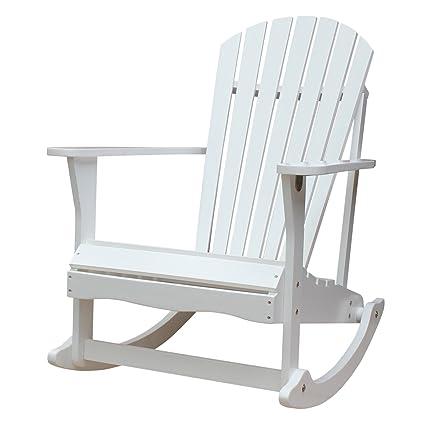 International Concepts R 52581 Adirondack Porch Rocker, White
