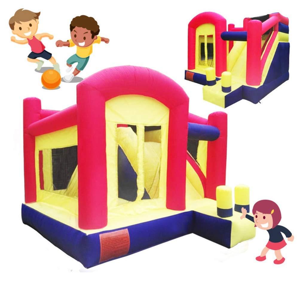 Coloree 400360280cm WJSW Castelli gonfiabili Giocattoli Sportivi Castello Gonfiabile per Bambini Coperta Piccolo Scivolo Giardino per Bambini Trampolino tutti'aperto Parco Gio  per Bambini per L'Estate Accessor