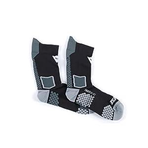 Dainese 1915955_604_L Chaussette D-Core Mid Sock, Noir (Noir/Anthracite), Taille: M