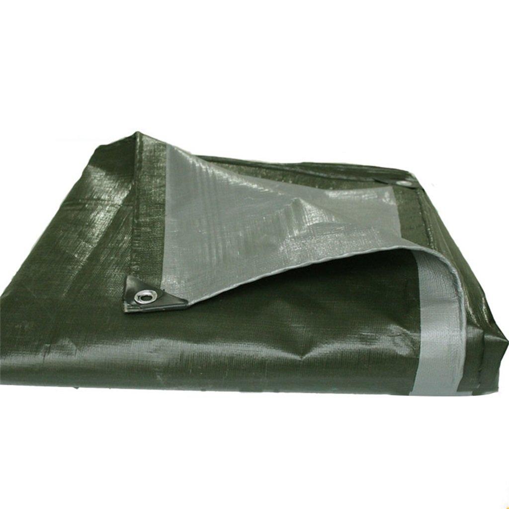 CAOYU Gepolsterte Wasserdichte und regensichere Sonnenschutz Plane Dreirad Dreirad Plane Poncho Outdoor-Sonnenschirm staubdicht Winddicht, Armee grün + Silber 5d156f