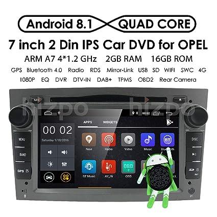 Android 8.1 Doble Din Radio estéreo del coche Pantalla táctil de 7 pulgadas en el tablero