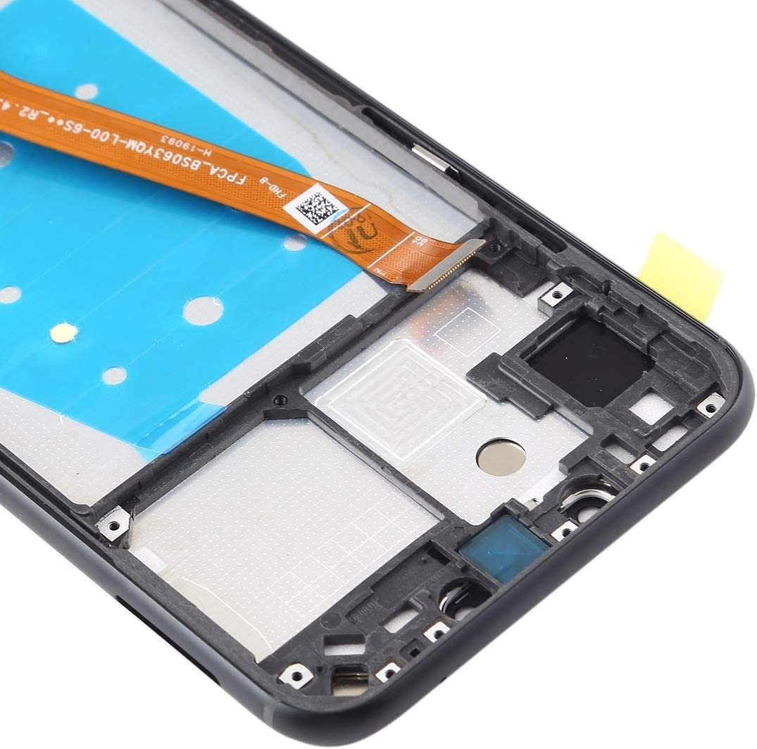 LCD Screen Mobile Phone and Digitizer Full Assembly with Frame for Huawei Nova 3i Black Color : Black